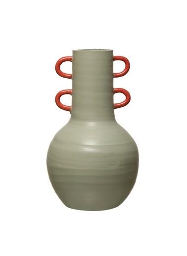 Warm Design Terracotta Vazo Yeşil